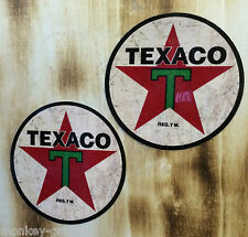 2er Set Oldschool Texaco brown - US Cars Hot Rod Sticker Vintage Retro USA