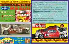 ANEXO DECAL 1/43 FORD RS 200 ROBERT DROOGMANS RALLYE DU CONDROZ 1986 (04)