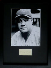 BABE RUTH signed autograph PHOTO DISPLAY Baseball