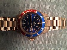 Croton Men's Stainless Steel Diver Watch Pepsi Dial Preowned Quartz