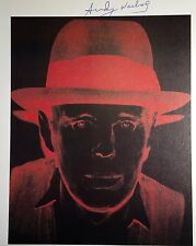 ANDY WARHOL HAND SIGNED SIGNATURE * JOSEPH BEUYS *  PRINT  W/ C.O.A