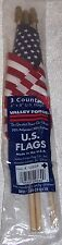 "Valley Forge! RED, WHITE, BLUE! 3 Count. 4""x6"" U.S.Flags. PATRIOTIC! Made N USA"