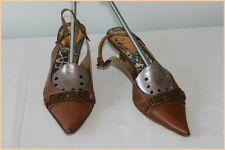 Escarpins JUST CAVALLI Tout Cuir Marron T 36 BE