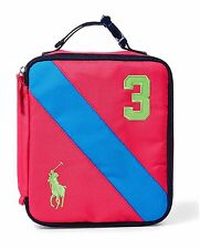 Ralph Lauren Soft Lunch Box For Girls Big Pony 3 100% New, Authentic