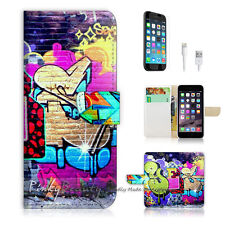 "iPhone 6 (4.7"") Print Flip Wallet Case Cover! Cool Graffiti P0068"