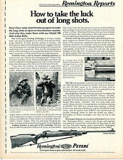1971 Print Ad of Remington Reports Model 700 BDL Rifle long range shot