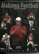 2000 Alabama Football Media Guide