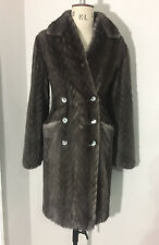 Alexander McQueen AW08 Grey/Slate Mink double breasted fur coat RRP £18,990