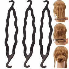 Women Lady Magic Bun Hair Twist Styling Braid Tool Care Clip Black