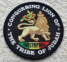 "THE LION OF JUDAH PATCH 3"" Cloth Badge/Emblem Biker Jacket Rasta Haile Selassie"