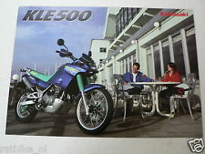 K095 KAWASAKI  BROCHURE PROSPEKT FOLDER KLE500 ENGLISH 6 PAGES