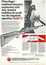 1976 Print Ad of Sturm Ruger Model M-77 Bolt Action Rifle