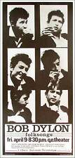 Bob Dylon (sic) Poster Vancouver '65 Dylan Reprint Signed in Ink Bob Masse