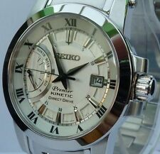 SEIKO PREMIER BRAND NEW MEN'S KINETIC DIRECT DRIVE WATCH. SRG007P1