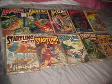 PULPS - lot of 10 PULPS - 1940-50 era - BIZARRE  SCI-FI  SPACE - Leinster Vance