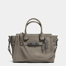 NWT COACH Swagger 27 in Pebble Leather 34816 FOG