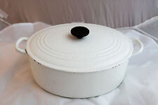 Le Creuset 5 qt Oval Dutch Oven White COLOR
