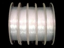 Nylon Thread 5 x 20m Rolls 0.3mm Clear Beading Jewellery Line FREE POSTAGE