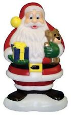 "New Christmas Blow Mold Lighted Plastic Yard lawn decoration 18"" Santa Claus"