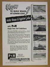 1949 Harnischfeger P&G Soil Stabilizer road building machine vintage print Ad
