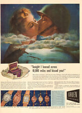 1942 WW2 era AD GRUEN Watches Christmas gift passed by Censor Lovely ART  111116