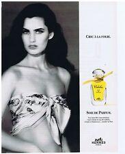 """PUBLICITE ADVERTISING 094 1999 HERMES Soie de parfum """"Calèche"""""""