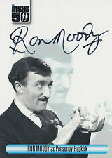 The Avengers 50th Anniversary Autograph Card AVRM Ron Moody As Ponsonby-Hopkirk