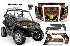 NEW AMR GRAPHICS KIT POLARIS RZR 800 800S 2007-10 FIRESTORM RED BLACK Full Kit