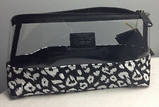 VICTORIA'S SECRET PINK CLEAR/CANVAS MAKEUP/COSMETIC BAG BLACK/WHITE