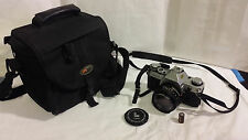Canon AE-1 35mm Camera & Canon FD 50mm f/1.8 Lens, Lowepro Camera Bag AWESOME!