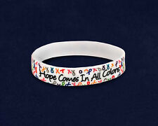 Hope Multi Colored Ribbon Silicone Bracelet (RETAIL)
