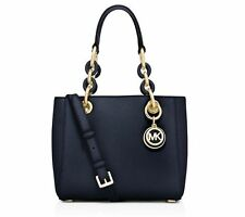 Michael Michael Kors Cynthia Mini Satchel, Navy / Gold