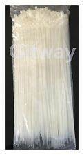"500 Set 14"" Long Nylon Plastic White Wire Cable Loop Zip Tie Ty Ties Wraps 40#"