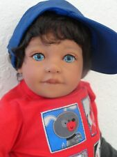 "Reborn 22"" Toddler Boy  Doll ""Dominic""-med. skin tone, ethnic"