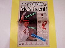 MARK MRGWIRE VINTAGE L.A. TIMES BASEBALL HOMERUN RECORD NEWSPAPER NEW RARE!!!