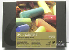 Rembrandt soft pastels - general collection of 15 half pastels