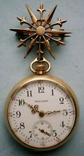 Waltham Gold Filled Ladies Pocket / Pendant Watch c.1908 with watch holder pin