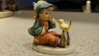 "Goebel Hummel ""Singing Lesson"" TMK 3 #63 Boy with Bird Figurine"