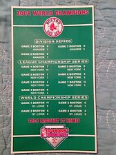 RARE ERROR BOSTON RED SOX 2004 World Series Champion DUNKIN DONUTS MAGNET