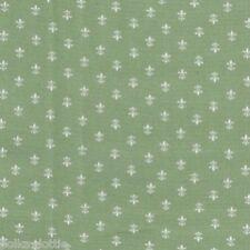 Fleur de Lys 100% Cotton Poplin Fabric 8 Colours Dressmaking Quilting Bunting