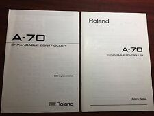Roland A-70 Owners Manual w/A-70 Midi Implementation Charts Expanded