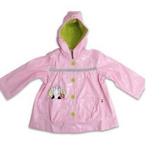 TINY TILLIA by Avon Rain Coat Jacket Sz: 3T Girl Toddler Hooded Pink Cow New