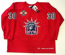 "HENRIK LUNDQVIST NEW YORK RANGERS ""LIBERTY"" RED PRACTICE JERSEY XXL NEW"
