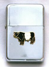 Belted Galloway Petrol Lighter Gift FREE ENGRAVING Cow Rare Breed Farming Gift
