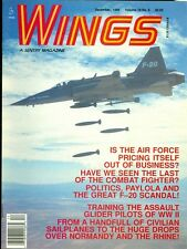 1989 Wings Magazine: Air Force Pricing/Combat Fighters/Assault Glider Pilots