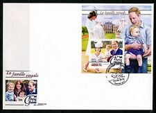 GUINEA 2016  THE ROYAL FAMILY KATE,WILLIAM,GEORGE & CHARLOTTE  S/SHEET FDC