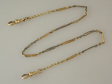 Solid 18K Gold and Platinum Pocket Watch Chain. Circa 1910