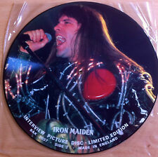"IRON MAIDEN - 12"" Interview PICTURE DISC BRUE DICKINSON 121"