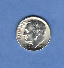 1955-S Bu Frosty Brilliant Uncirculated 10c Roosevelt Silver Dime