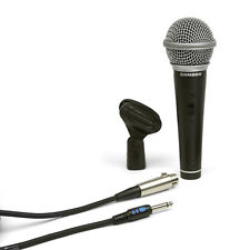Samson R21S Cardioid Dynamic Stage Performance Microphone w/ Cable & Mic Clip